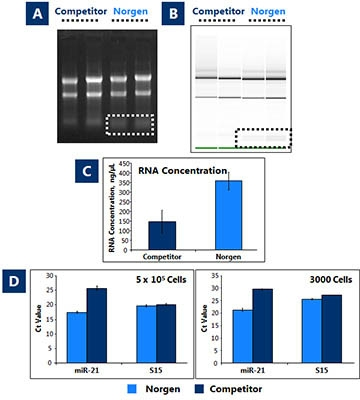RNA/DNA/Protein Purification Plus Micro Kit Figure 1